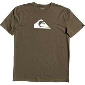 Quiksilver Comp Logo Camiseta Manga Corta Hombre, kalamata